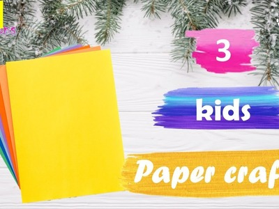 3 Diy Christmas crafts | Easy paper craft ideas for room decoration | Budget decor ideas with paper