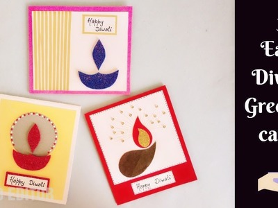 3 Quick and Easy Handmade Cards for Diwali | DIY Greeting Card | Diwali Cards
