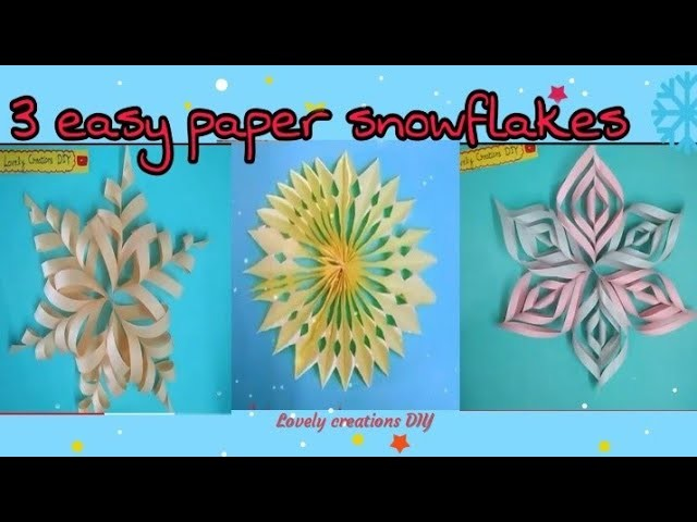 3 types of paper snowflakes for Christmas decoration ll easy paper