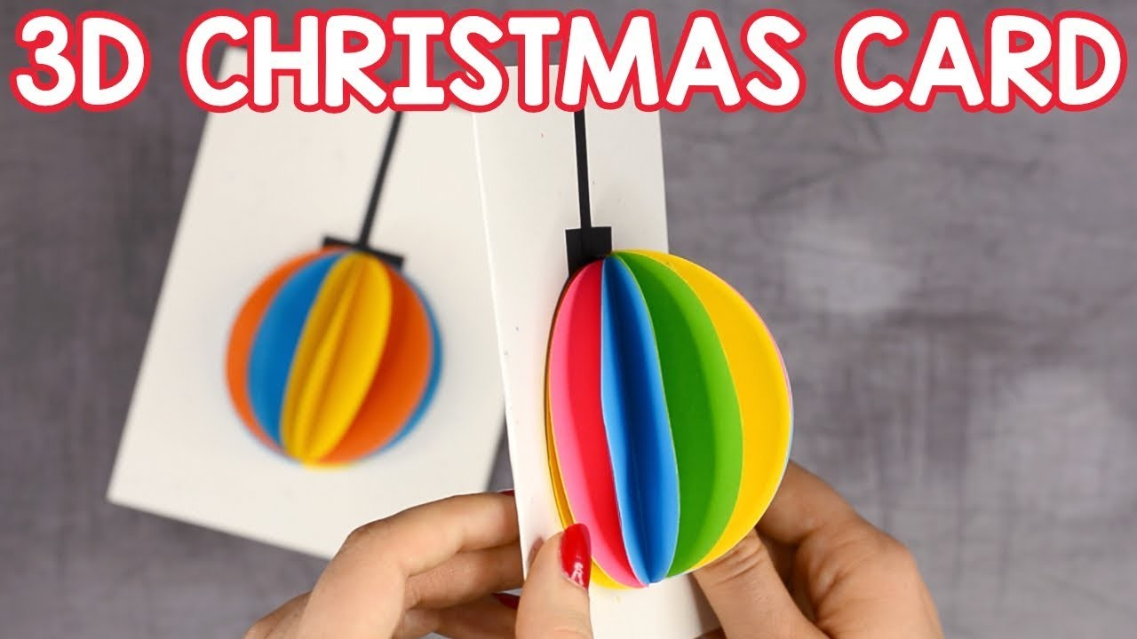 3D Paper Ornament Christmas Card - simple Christmas craft for kids