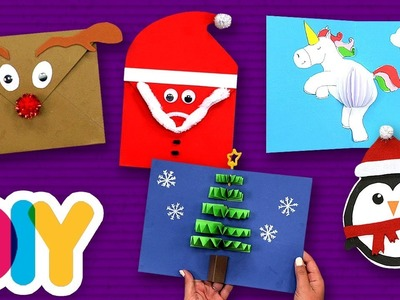4 Festive CHRISTMAS MAIL Paper Craft Ideas to do with your kid ???? Fast-n-Easy | DIY Arts & Crafts