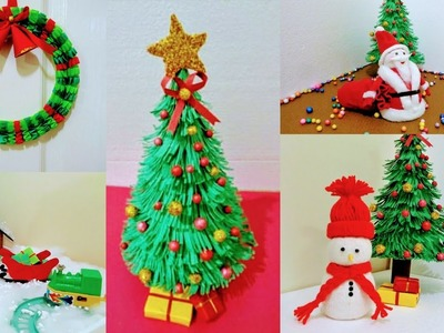 5 easy Christmas DIY Craft for School Project |  Holiday craft | Christmas decoration ideas