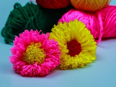 Amazing Trick #Woolen Flower Latest and Easy Design Simple Trick Craft Express #4