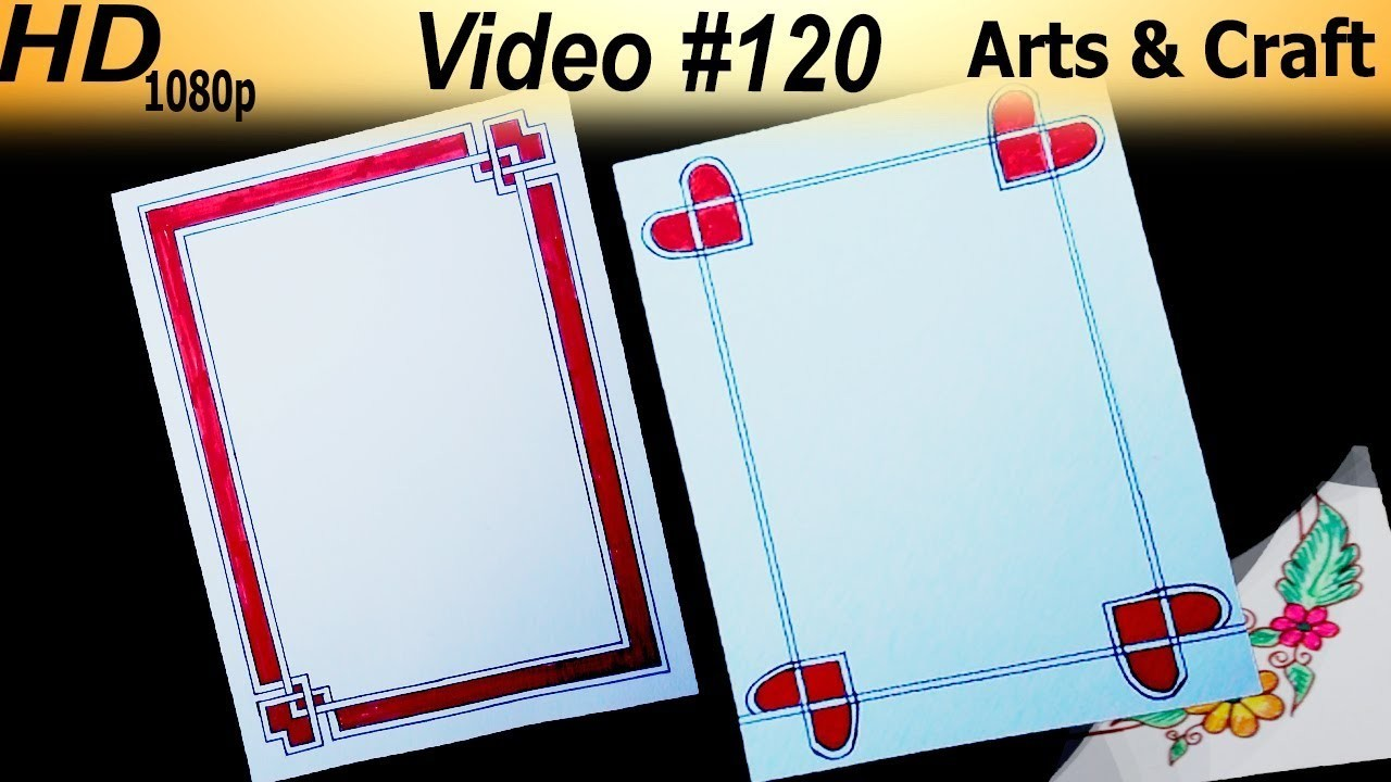 Beautiful Border Design Video 120 Arts And Craft