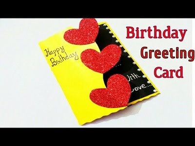 Beautiful Handmade birthday card idea.DIY Greeting card.birthday card Tutorial
