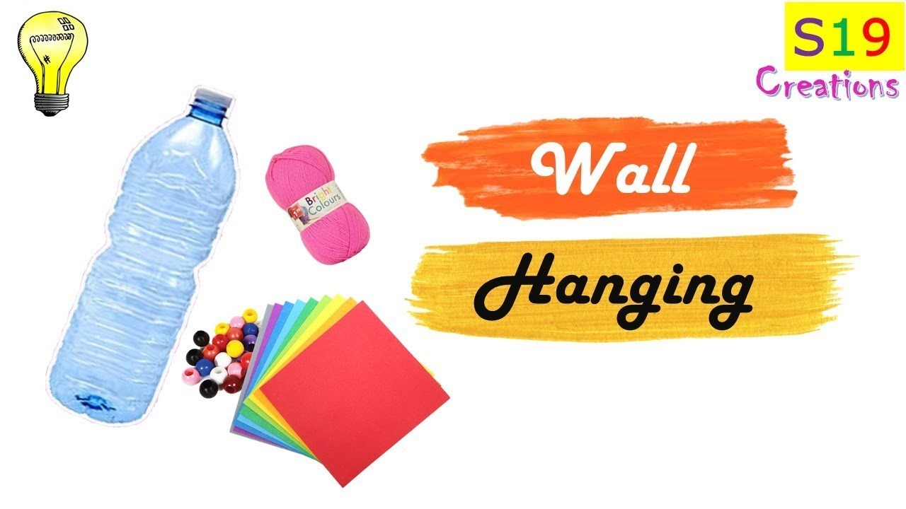 Best out of waste   wall hanging idea   plastic bottle crafts   diy arts and crafts   diy home decor