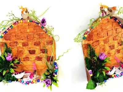 Best wall decor  DIY art and craft  waste cardboard box reuse idea