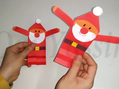 Christmas Decoration - Christmas Craft Ideas - Cute paper Santa Claus craft with just paper