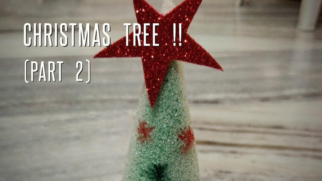 Christmas Tree Crafts (Part 2). Christmas decor. Christmas craft ideas.  Making of Christmas tree