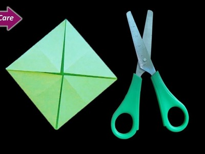 Craft Care paper craft idea for kids * How to make mini paper school project