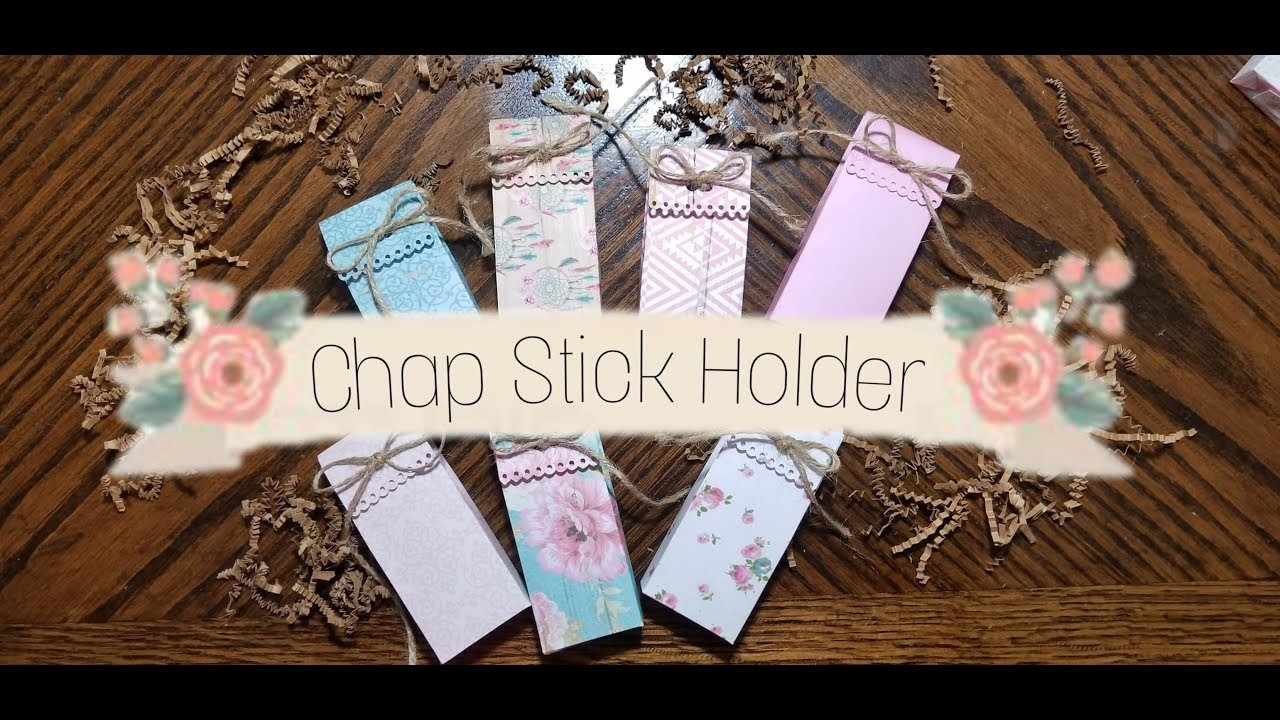 crafts to sell craft fair idea chap stick holder paper craft 1775