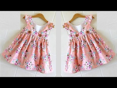 Diy Angrakha Style  Baby Frock Cutting and Stitching Full Tutorial
