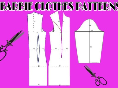 DIY Barbie Clothes How to make patterns ???? DIY Ideas For Barbie Doll ???? Barbie pattern Tutorial