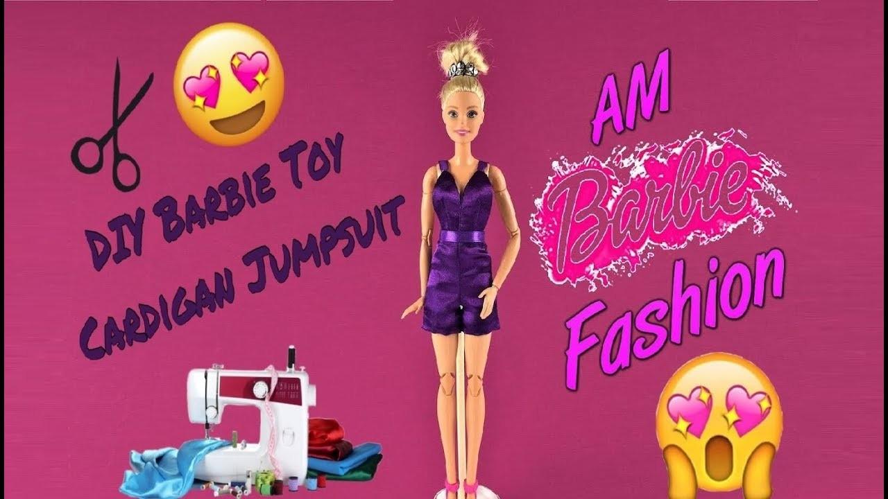 DIY Barbie Toy Cardigan Jumpsuit - Barbie Fashion Clothes Tutorial for kids Girls