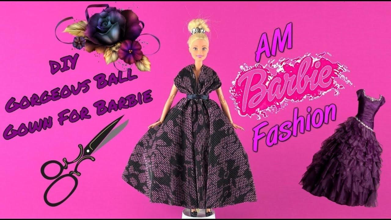 DIY Barbie Toys Ball Gown  ???? DIY Ideas For Barbie Doll ???? Barbie Tutorial