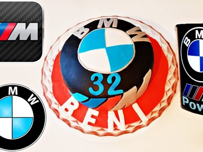 DIY BMW M Power Wheel Fondant Cake Tutorial