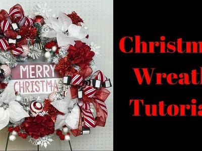 DIY Christmas Wreath Tutorial - Flocked Christmas Wreath