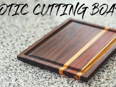 DIY Cutting Board From Exotic Wood || How To - Woodworking