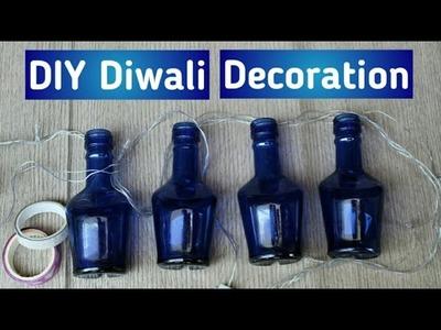 DIY Diwali Decoration using Bottles and Lights