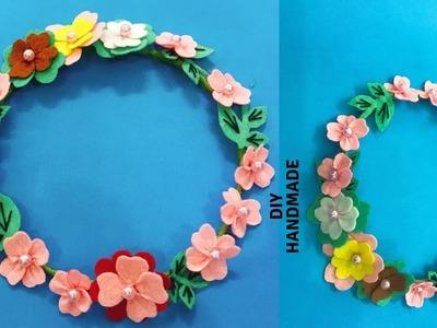 DIY FLOWER CROWN TUTORIAL - How To Make Flower Crown - HB HandMade