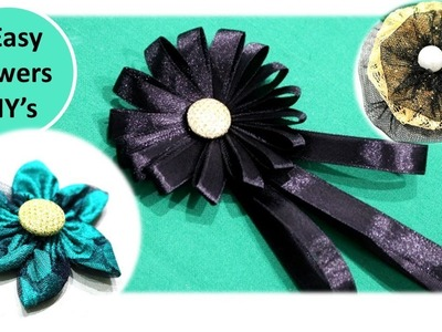 Diy Flower making | How to make Stunning flower out of ribbon and cloth