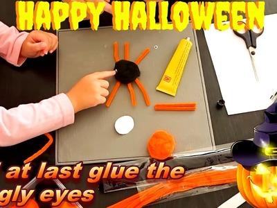 DIY Halloween Decorations How to Make HALLOWEEN Bats, Pumpkins, and Spiders