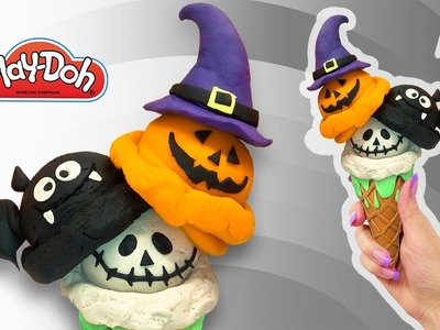 DIY Halloween Ice Cream. Play Doh Halloween Ice Cream. Creative Art DIY for Kids. Halloween for Kids