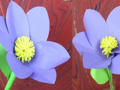 DIY Homemade Stick Flower | Stick Flower Making With Color Paper for Room Decoration | Safa Crafts