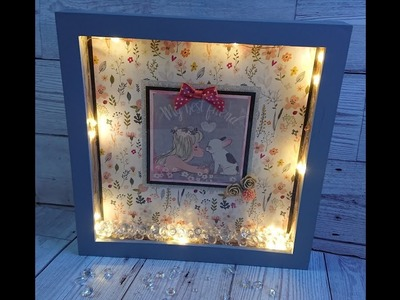 DIY Light up picture box frame tutorial