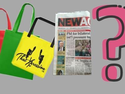 DIY- Newspaper & Shopping Bag Wall Hanging.Recycling |  Hater Kaj | Art And Craft Idea
