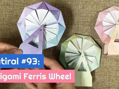 DIY Origami Ferris Wheel | The Idea King Tutorial #93