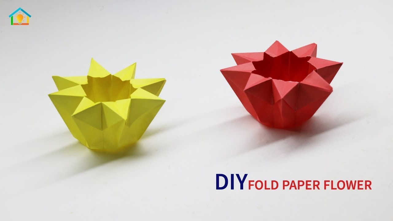 DIY Paper Craft Fold Paper Flower | How To Make Origami Fold Paper Flower