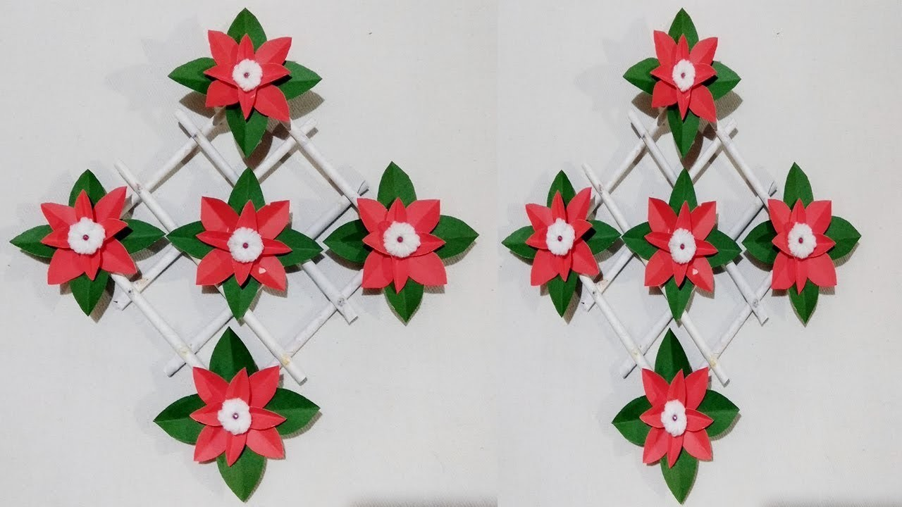 Diy Paper Flower Wall Hanging Wall Decoration Diy Art And Craft