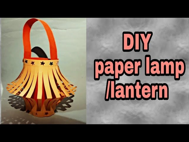 DIY paper lamp.lantern(cathedral light) how to make a pandent lamp by a paper ||wall hanging lamp||