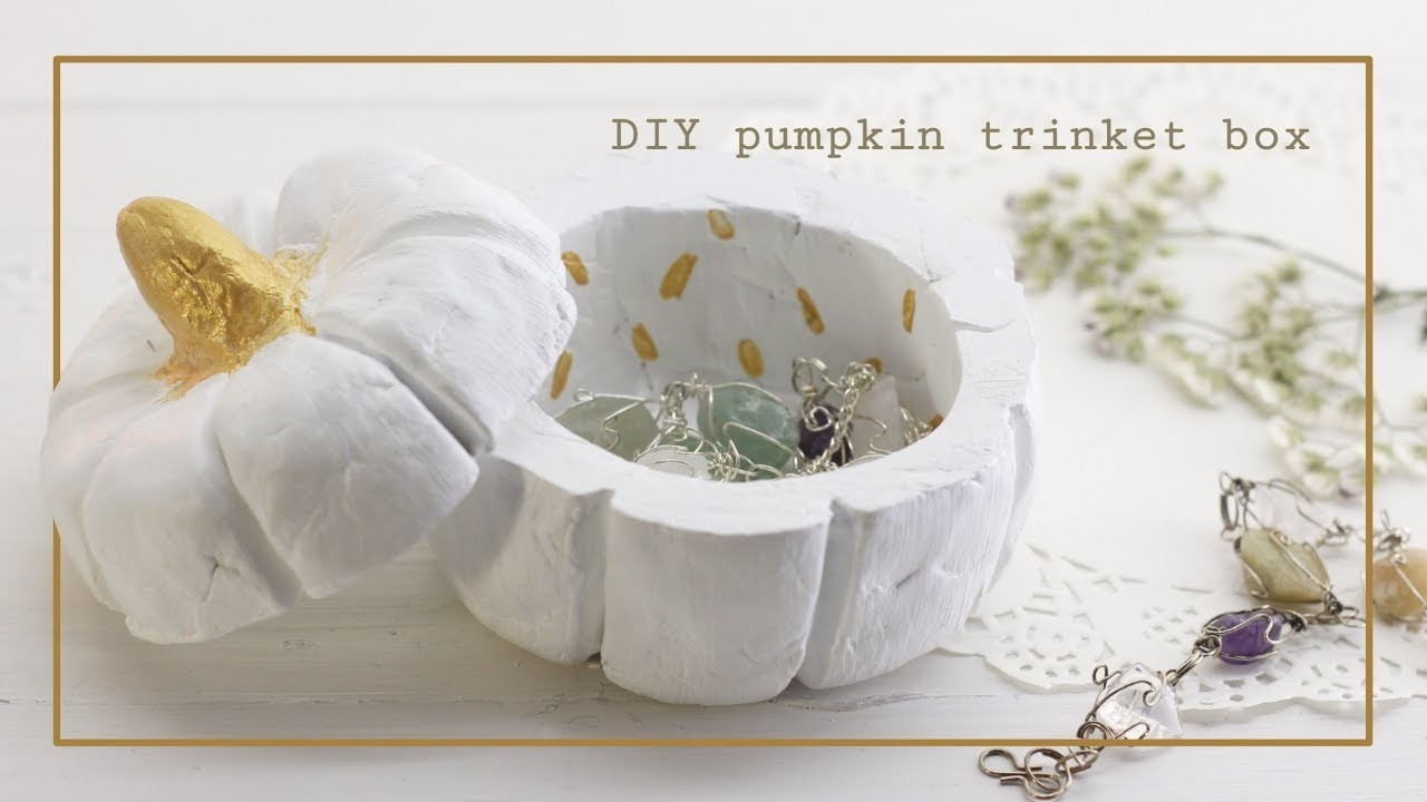DIY Pumpkin Trinket Box.Modern Autumn Decor