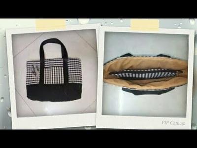 DIY : Shopping Bag. Handbag Tutorial By Anamika Mishra. .