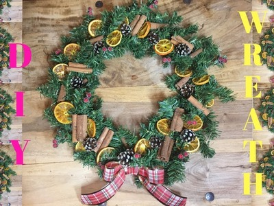 DIY TRADITIONAL CHRISTMAS WREATH!!! TUTORIAL