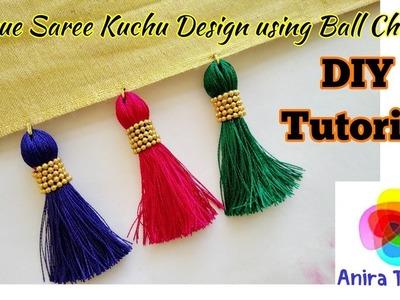 DIY Unique Ball Chain Saree Kuchu Tutorial | Trendy Saree Tassel Making at home