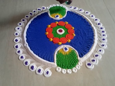Design Easy Craft How To Make Very Easy Rangoli Design Step By Step