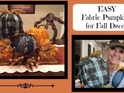 Easy DIY Fabric Pumpkins for your Fall Decor