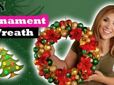 Easy DIY Ornament Wreath | Holiday Decor | Dollar Tree | Tutorial | Episode 42