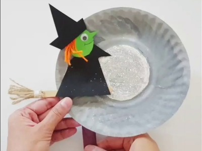 Easy Halloween (witch) craft for kids