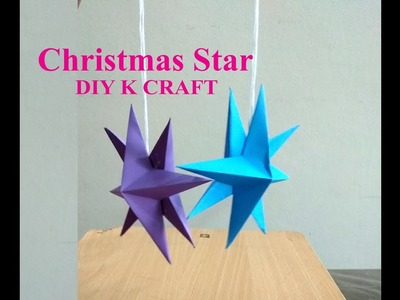 Easy Paper Star for Chirstmas | DIY K Craft