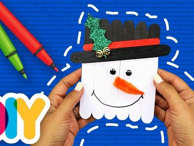 Fast-n-Easy | Snowman Ornament Popsicle Craft for toddlers | DIY Arts & Crafts for Kids
