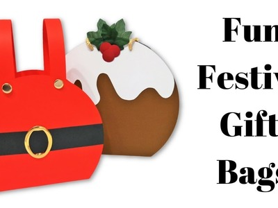 Festive Gift Bags | Christmas Pudding | Santa's Trousers | Mixed Up Craft