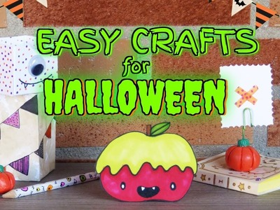 HALLOWEEN EASY CRAFTS FOR KIDS ???? DIY BACK TO SCHOOL SUPPLIES