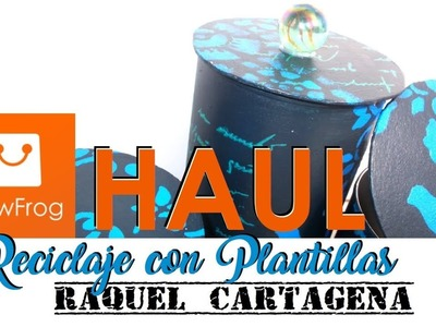 HAUL de colaboracion con NEWFROG y TUTORIAL DIY FACIL reciclando botes mixed media