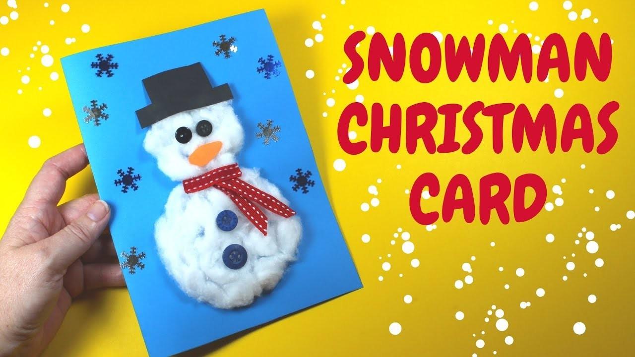 How to Make a Christmas Snowman Card | Christmas Craft for Kids