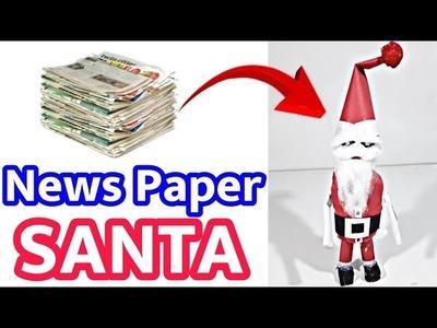 How To Make A Santa Claus | News Paper Craft Idea | Christmas Craft Idea | Infoo Crafts