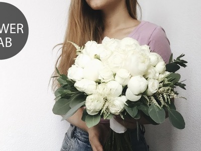 How to make Classic Round White bouquet | DIY Wedding Bouquet